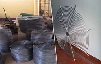 Spiral Wire Formed Fan Ventilation Grille